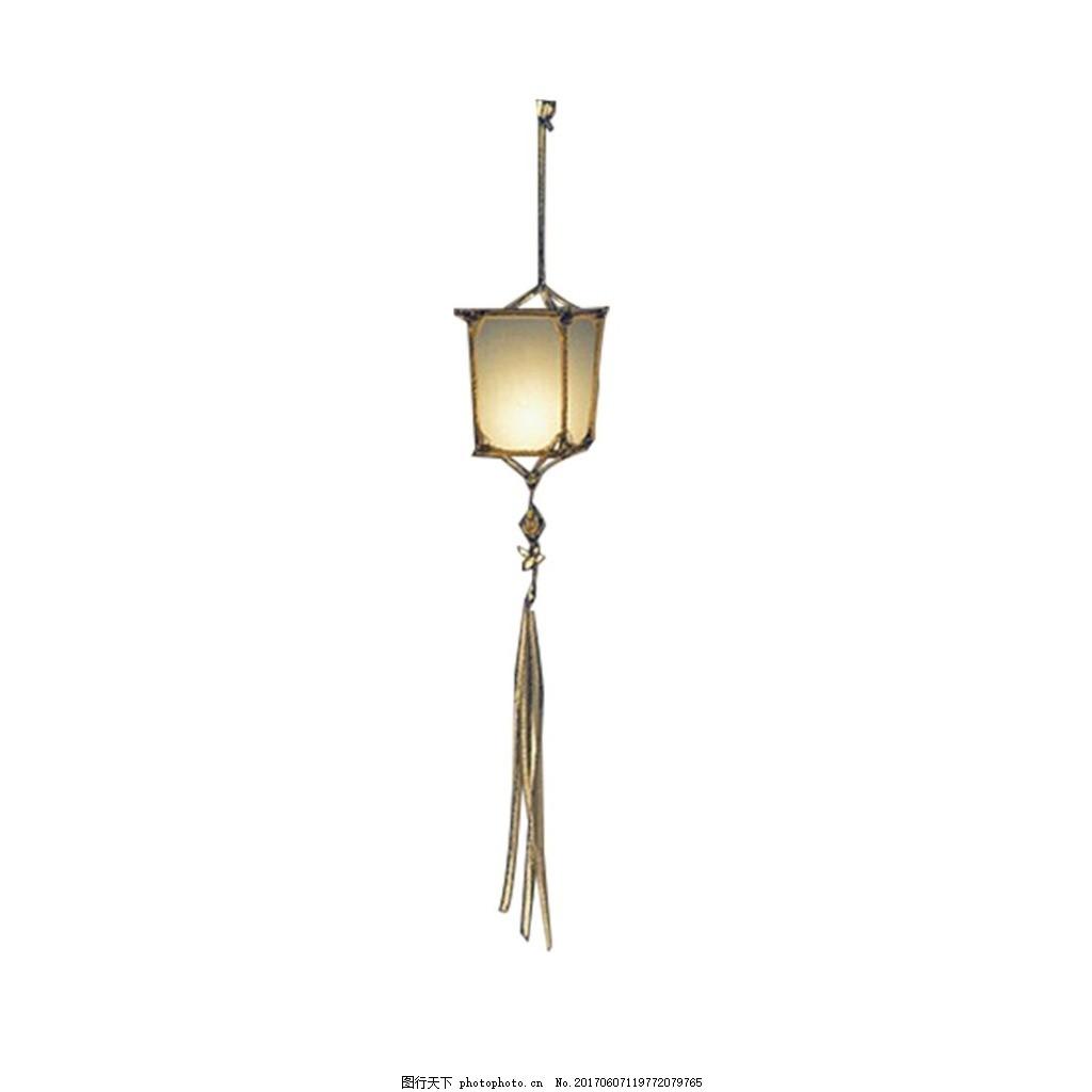 中国风复古灯笼元素 手绘 吊坠