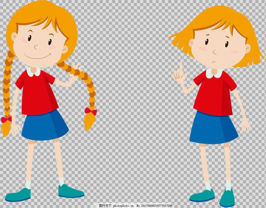 金色头发可爱女孩免抠png透明图层素材