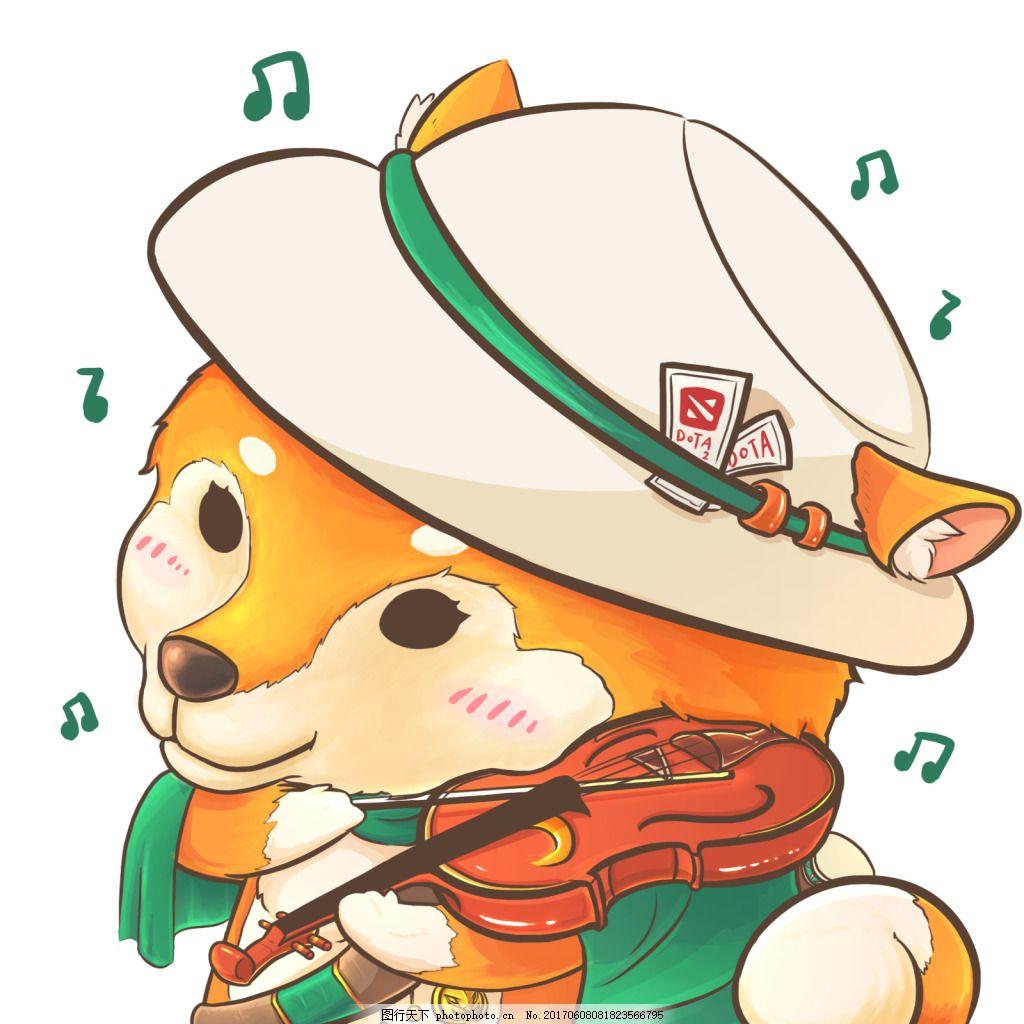 柴犬卡通插画