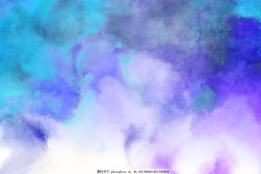 唯美水墨蓝色温馨背景