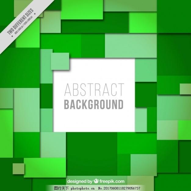 矩形和正方形的绿色背景