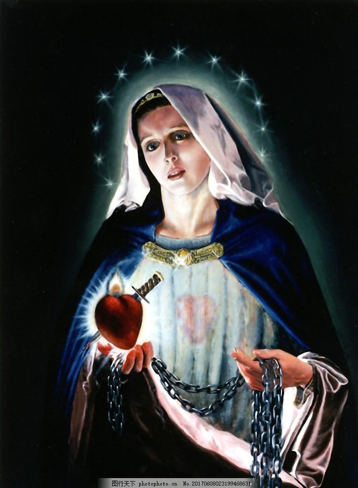 圣母圣心 玛利亚 圣心 圣母玛利亚 天主教 设计 人物图库 生活人物