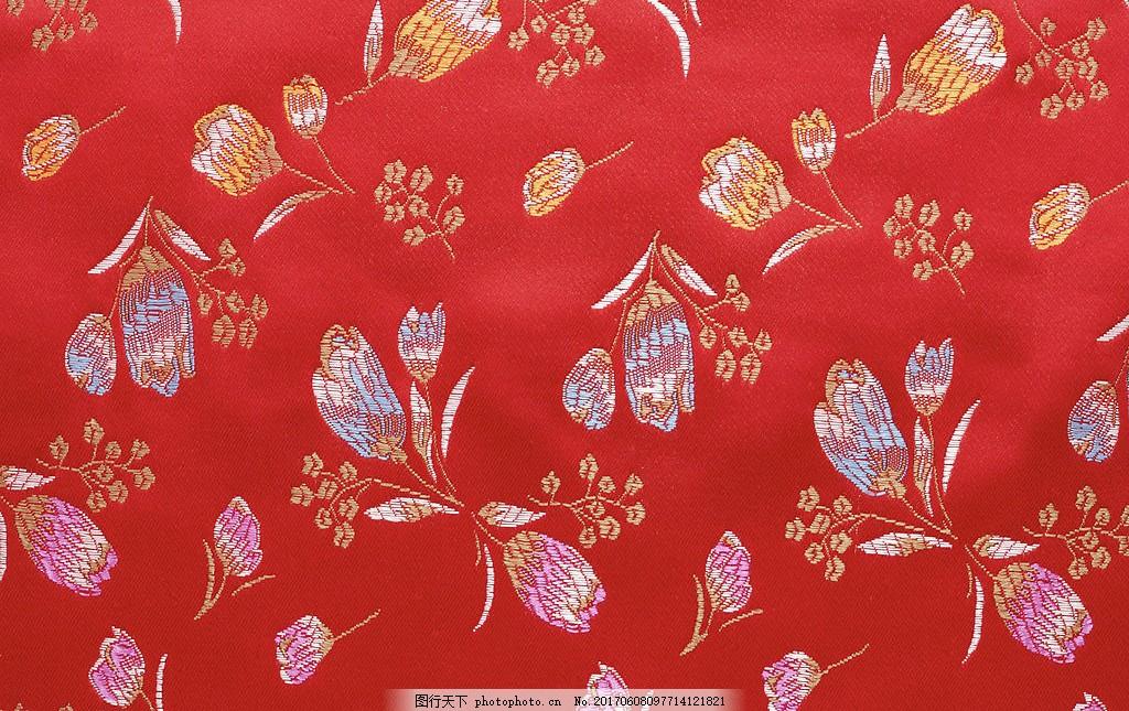 红色时尚布纹壁纸 中式花纹背景 壁纸素材 无缝壁纸素材 欧式花纹