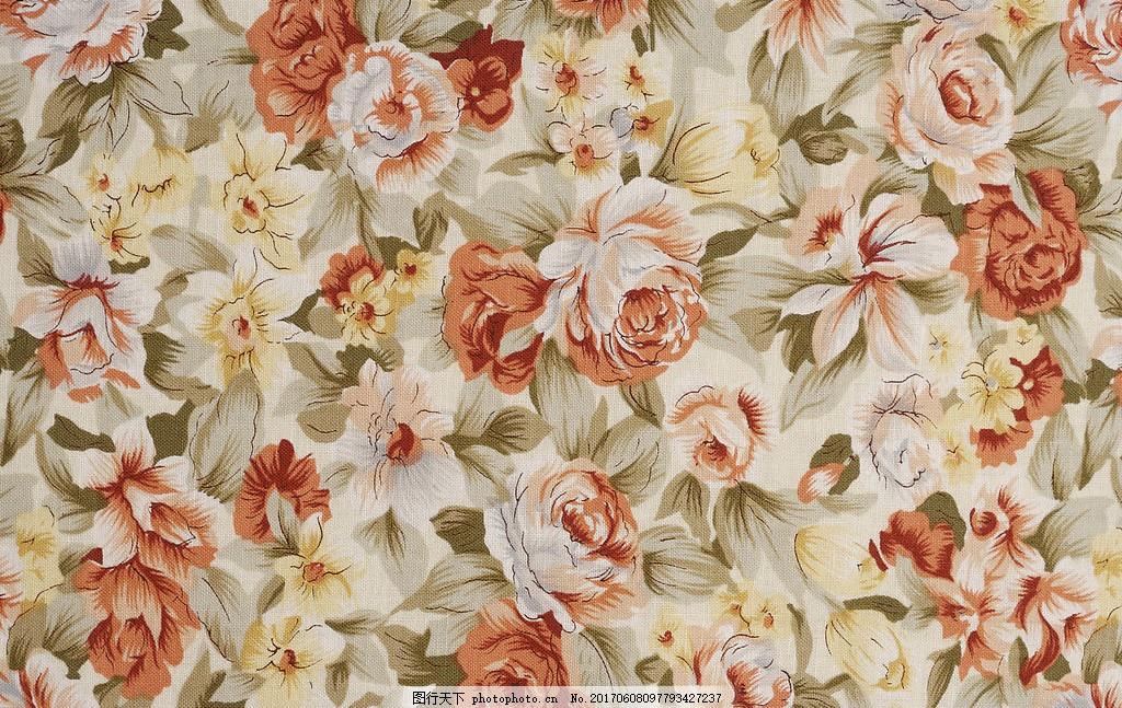 中式花朵布纹壁纸 中式花纹背景 壁纸素材 无缝壁纸素材 欧式花纹