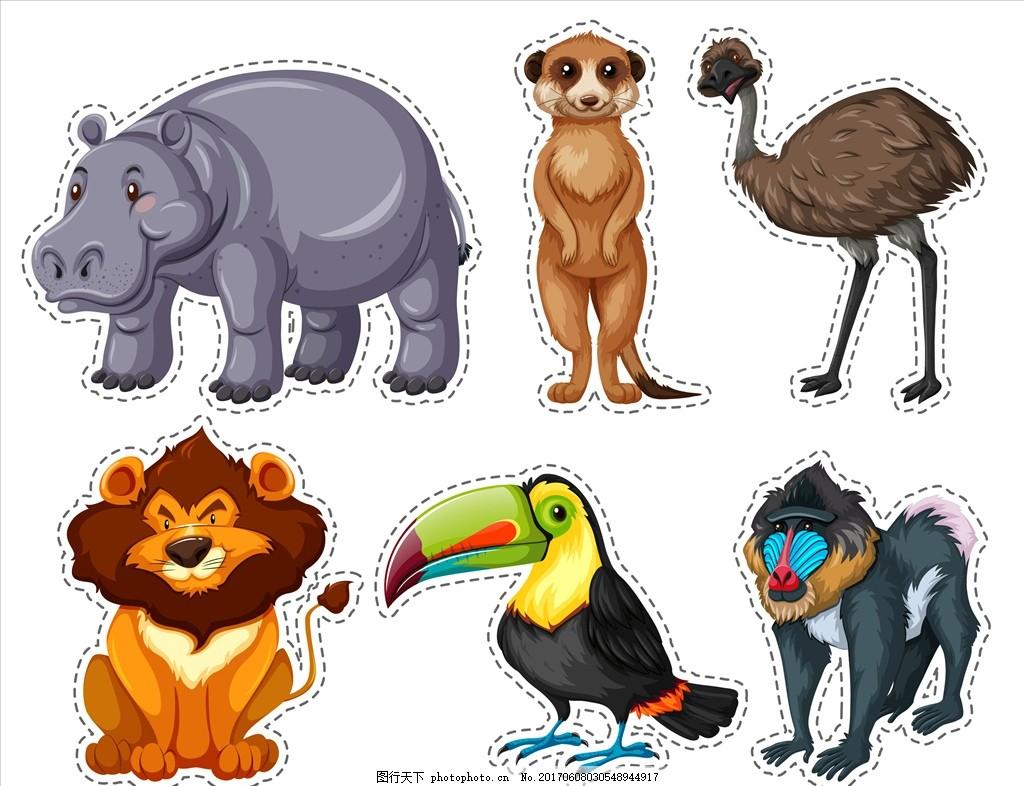 手绘印第安人 卡通动物园 动物园 卡通 可爱动物 小动物 动物儿童画