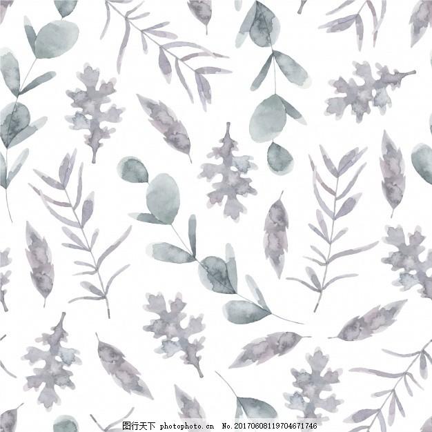 水彩画叶子背景 花卉 自然 花卉背景 壁纸 春天 树叶 装饰 自然背景