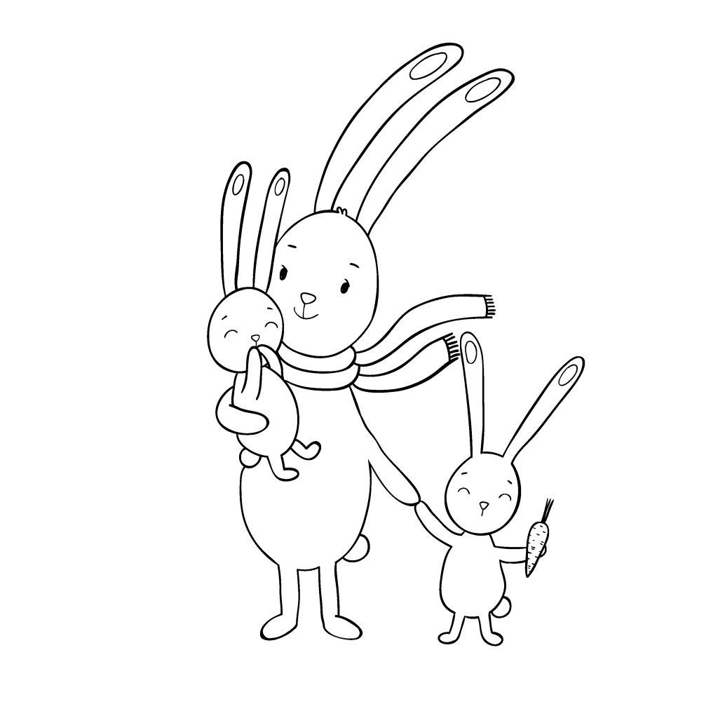 手绘卡通动物元素