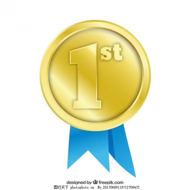 第一名奖,金 成功 徽章 奖品 比赛 冠军 胜利 成就