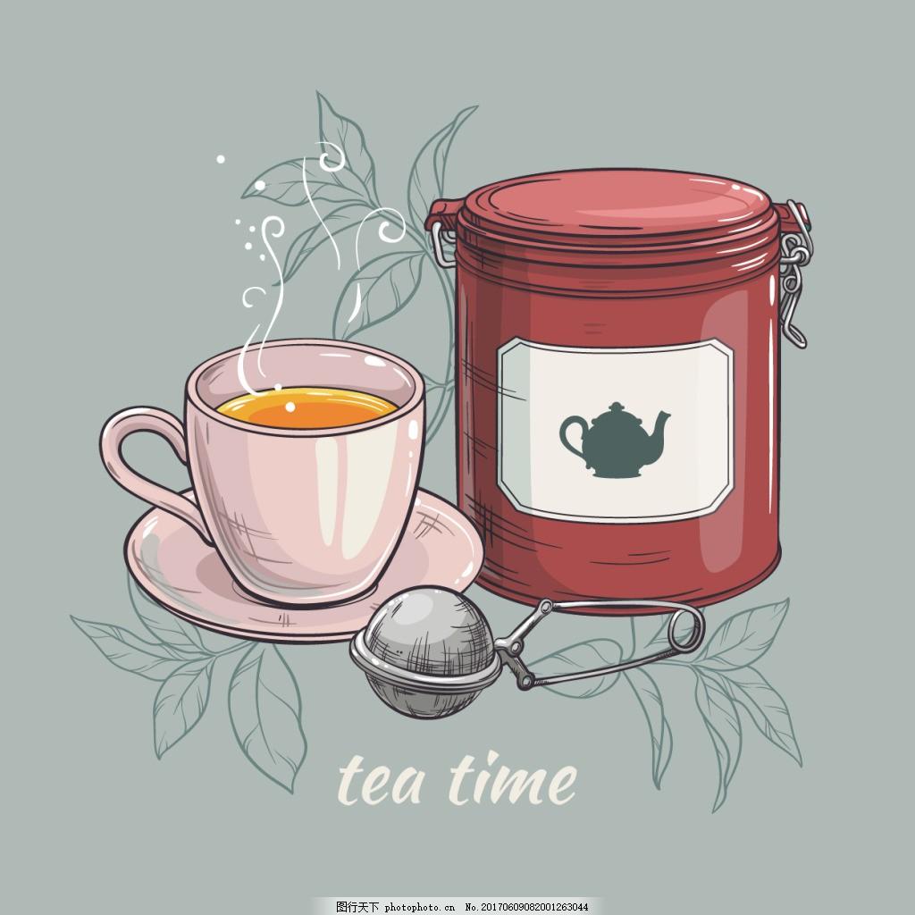 手绘下午茶