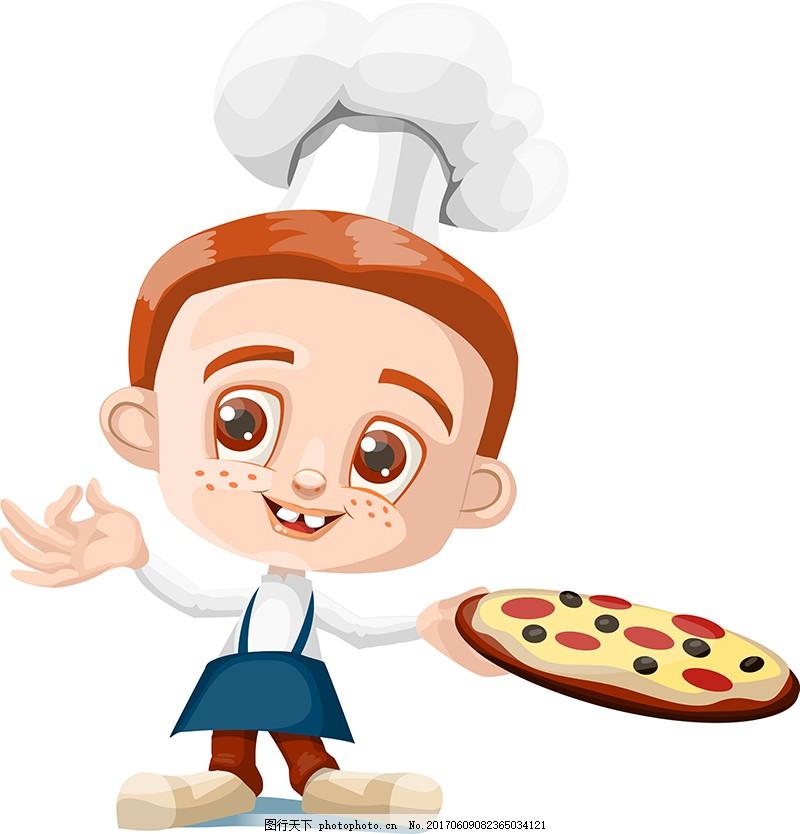 卡通小孩人物厨师