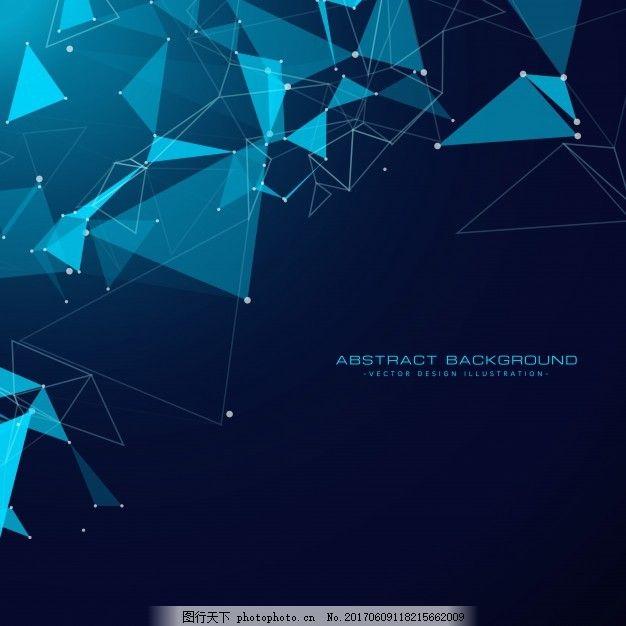 三角形技术背景 抽象 计算机 几何 线 科学 网络 数字 形状