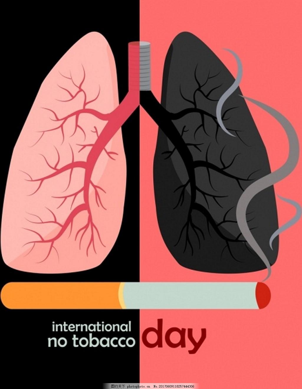 戒烟日宣传海报材料图片