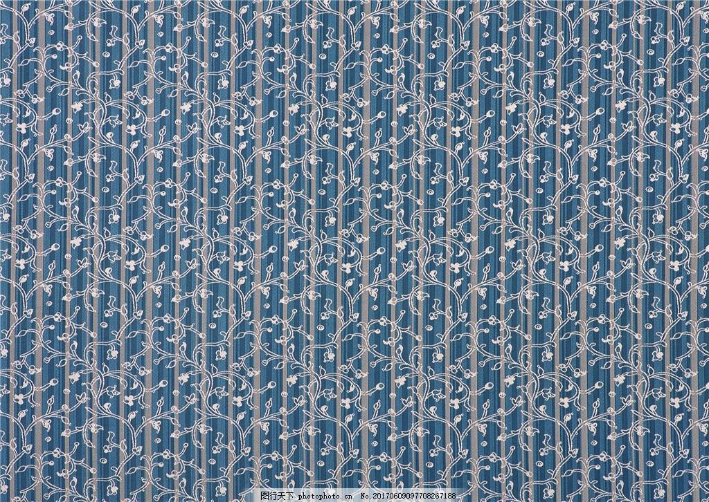 深蓝色花纹布纹壁纸图片