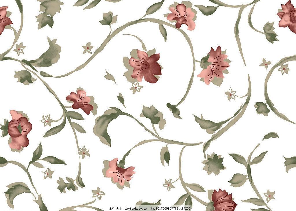 中式花纹布艺壁纸
