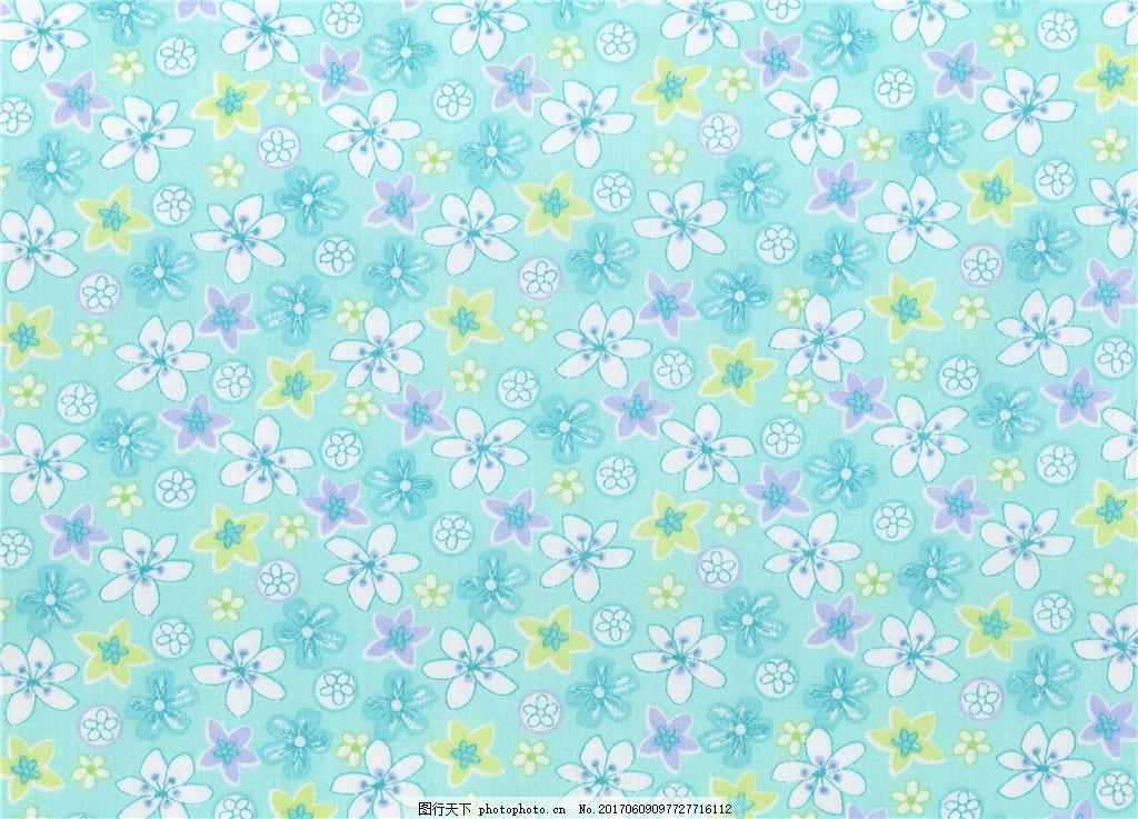 青色小花布纹壁纸 中式花纹背景 壁纸素材 无缝壁纸素材 欧式花纹