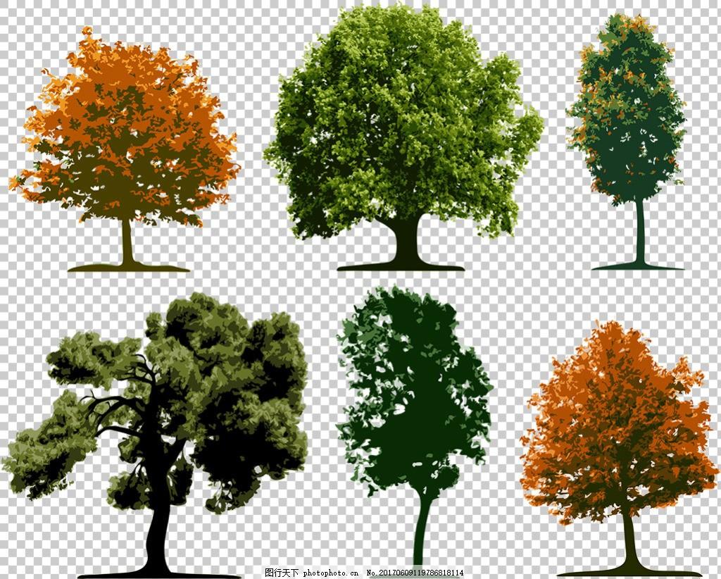 写实风格逼真大树免抠png透明图层素材 创意小树 创意植物素材
