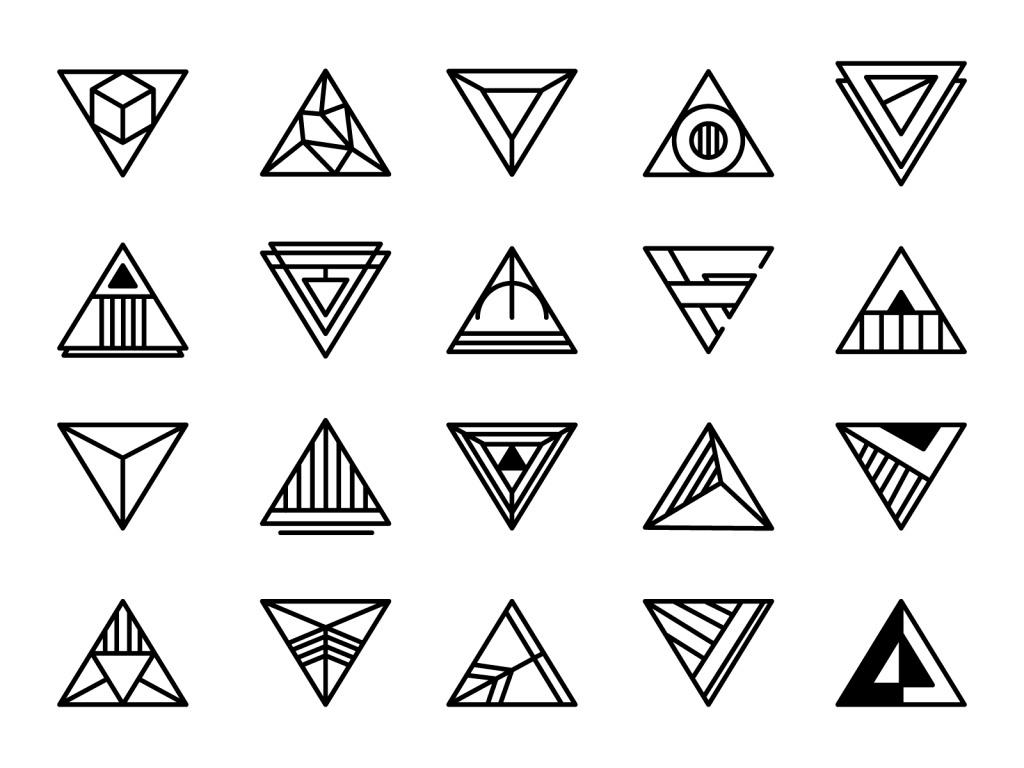 创意三角形
