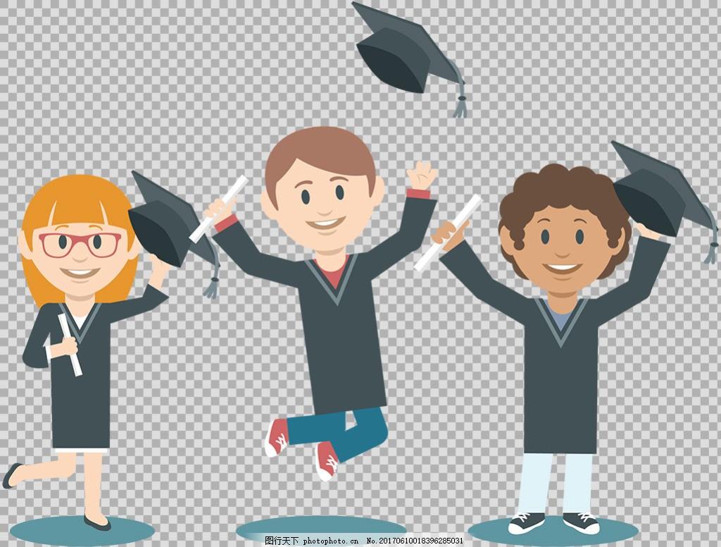 毕业季海报设计 毕业季创意设计 毕业季人物剪影 大学毕业 博士帽