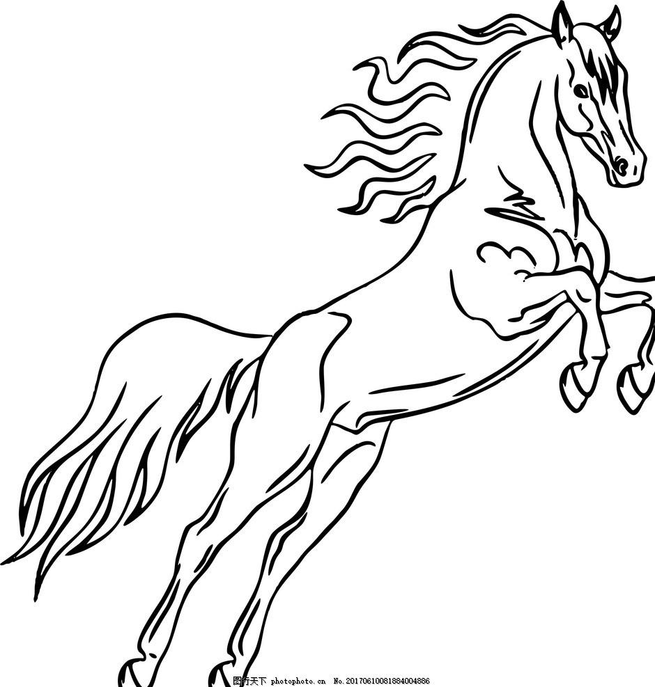疯狂奔跑的动物简笔画