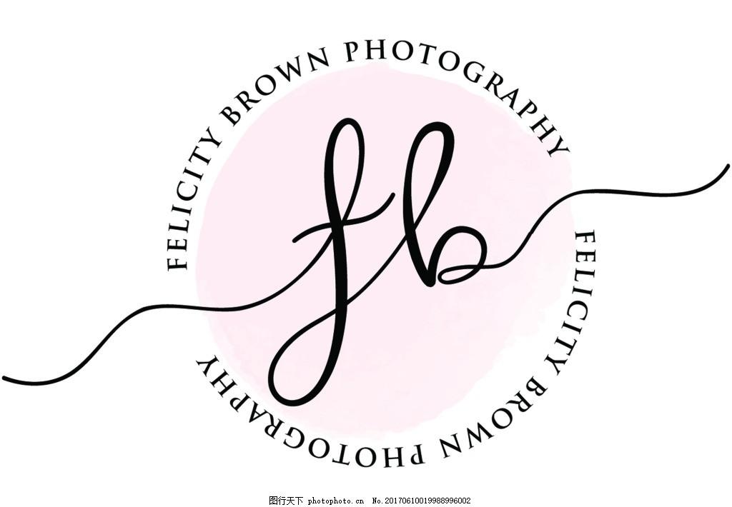 手绘 小清新 logo设计 背景 花朵 矢量      图标 设计 源文件