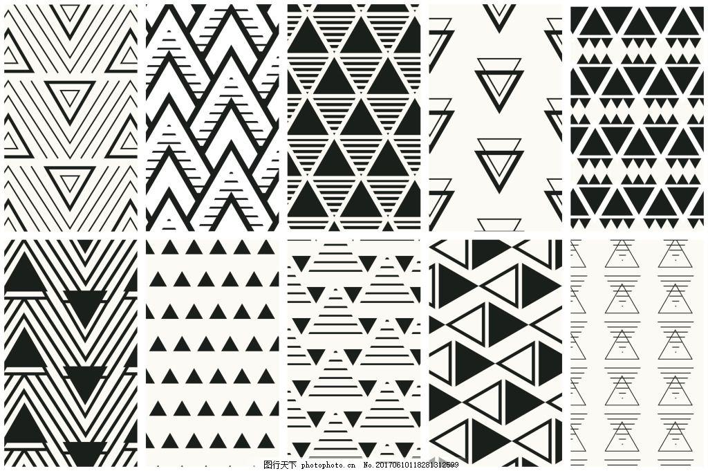 创意多边形填充底纹包装图案矢量设计素材