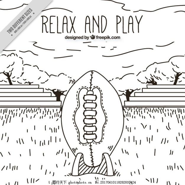 的背景下 一方面 体育 手工绘制的 足球的大背景下 球场 放松 竞争