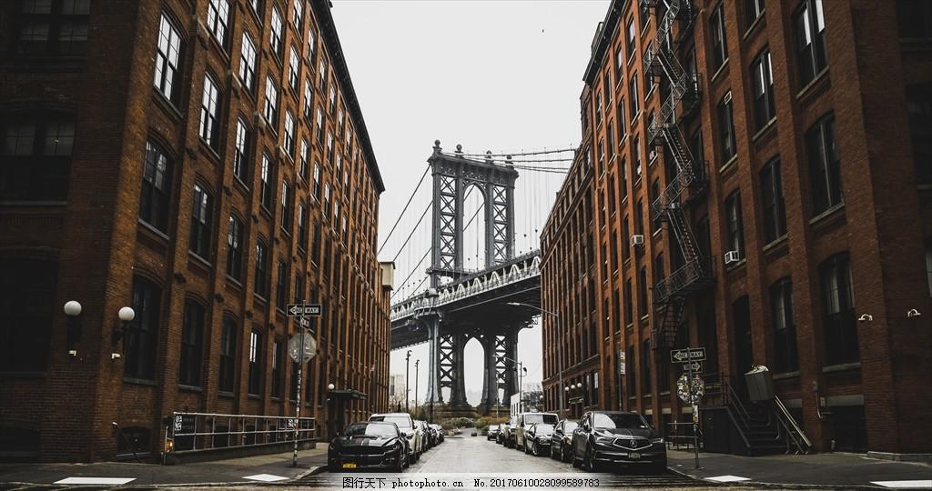 欧式建筑 透视街头 楼房 桥柱 汽车 室内 摄影 人文 建筑园林