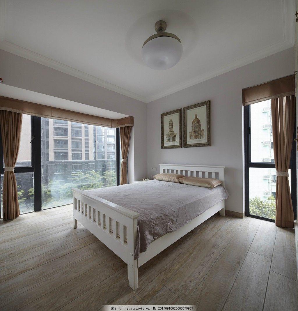 落地窗采光卧室装修效果图 室内装修效果图图片 室内设计 设计素材