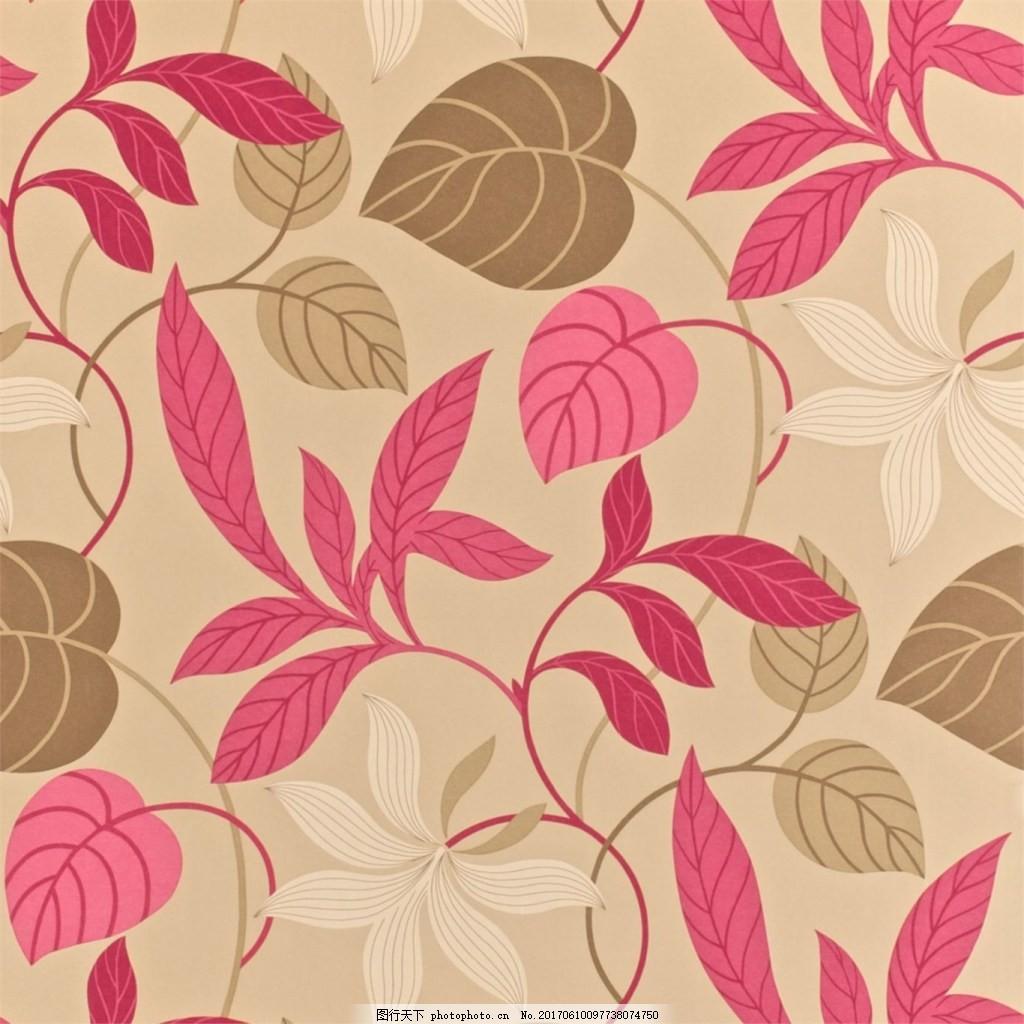 粉色花纹布艺壁纸 西式花纹背景 壁纸素材 无缝壁纸素材 欧式花纹 jpg