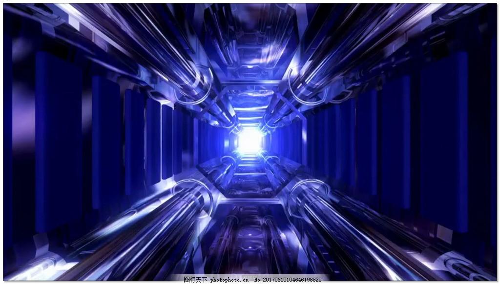 高清蓝色科技隧道视频素材 光效 背景 视频素材下载 光效爆炸 蓝色通道