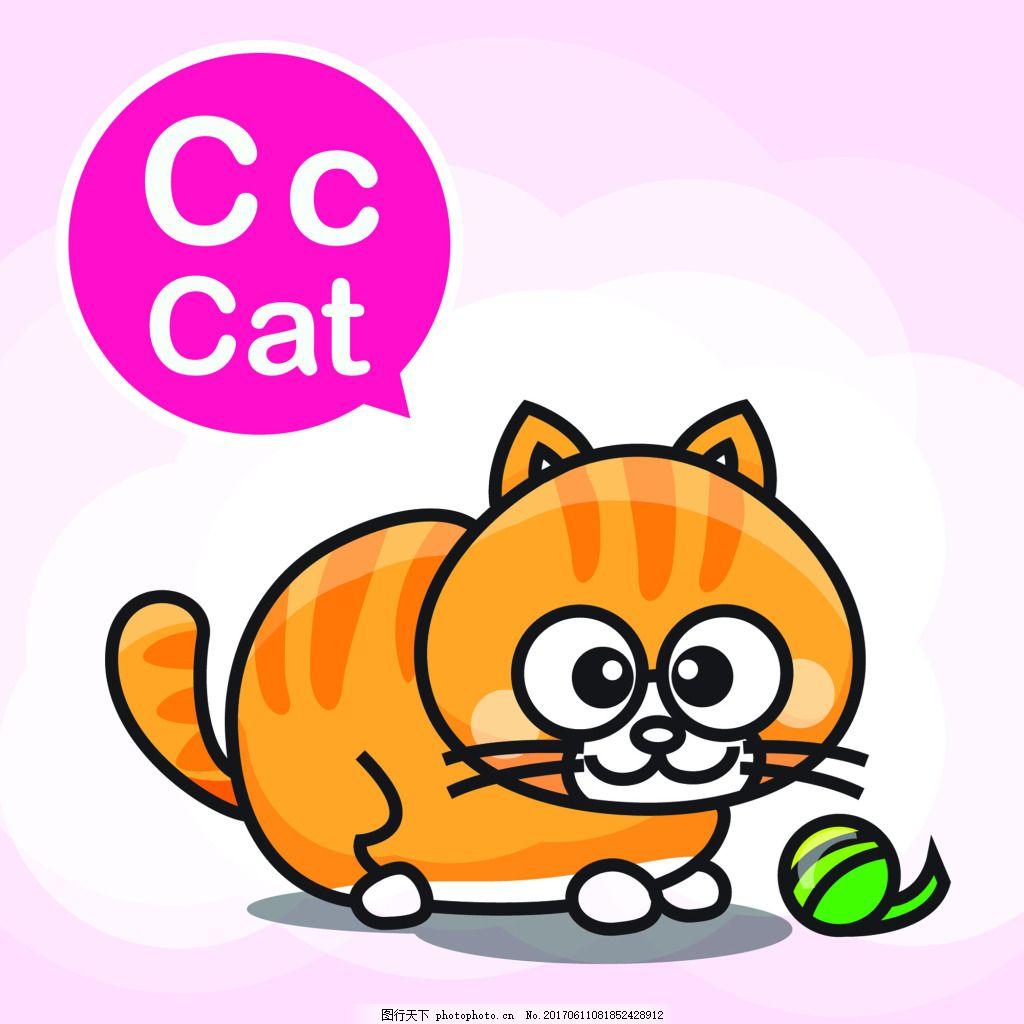 猫咪通小动物矢量背景素材图片