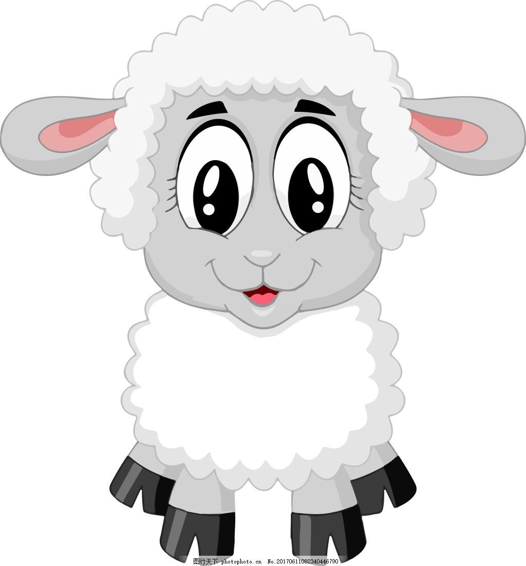 卡通小绵羊素材设计 羊子 可爱绵羊