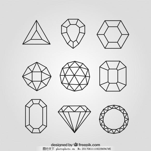手绘钻石图片壁纸