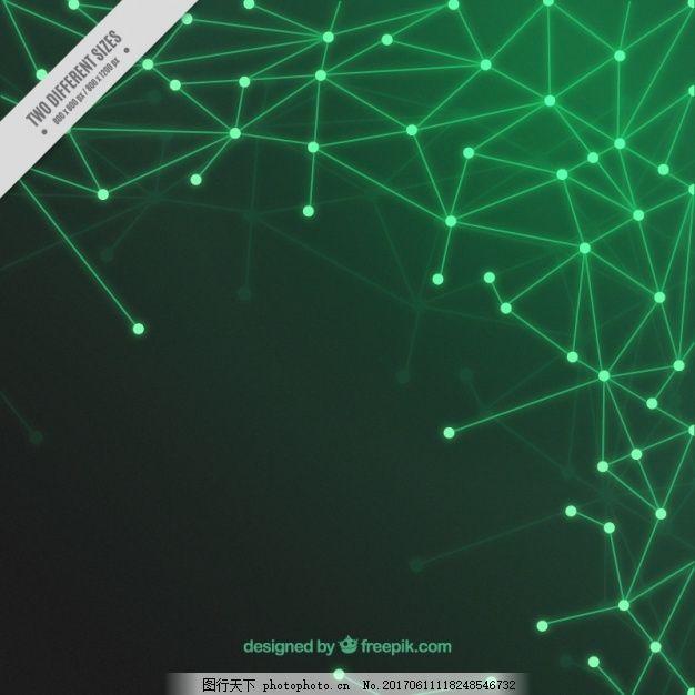 绿色电路背景 背景 抽象 技术 计算机 几何 线条 技术背景 点 现代