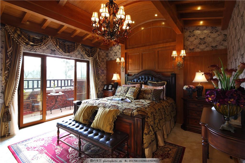 欧式复古卧室装修效果图图片