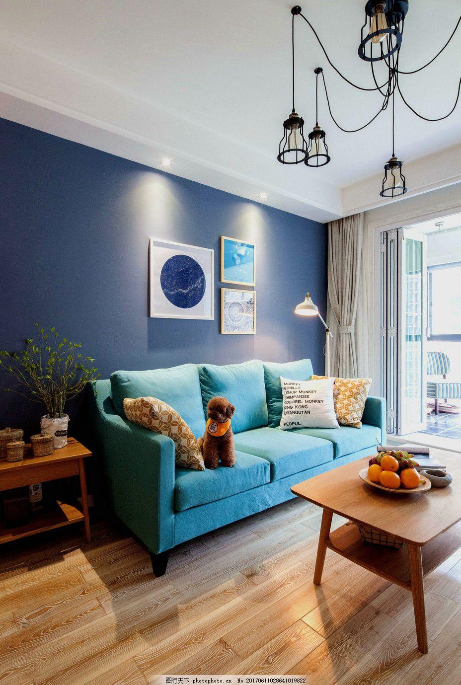 北欧客厅装修效果图 室内设计 家装效果图 欧式装修效果图 时尚