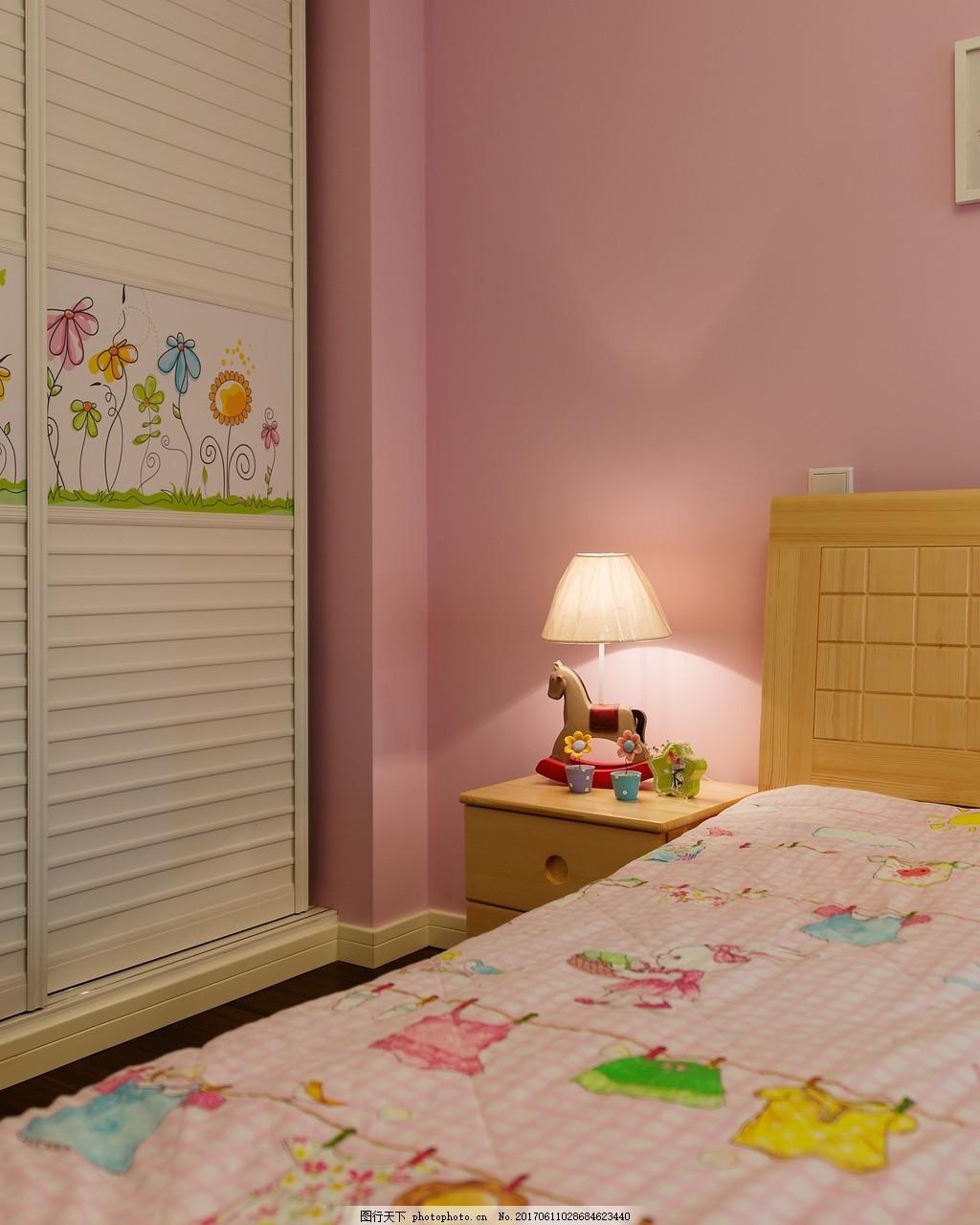 美式女童卧室装修效果图 室内设计 家装效果图 欧式装修效果图 时尚