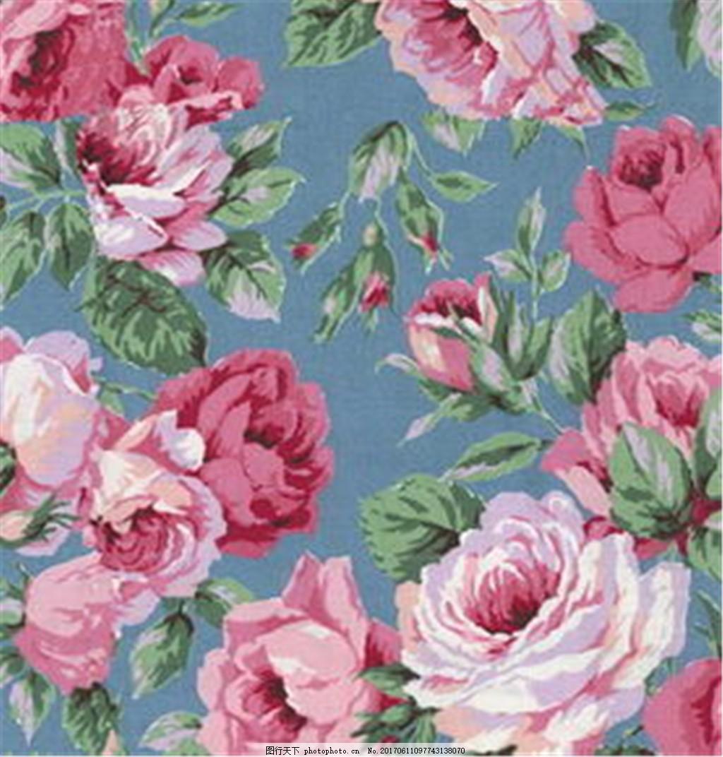 彩色牡丹花布纹壁纸 中式花纹背景 壁纸素材 无缝壁纸素材 欧式花纹