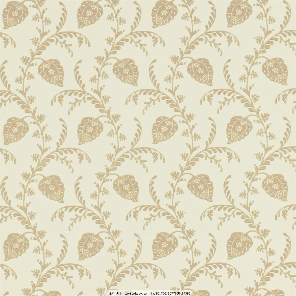 米色花纹图案壁纸 中式花纹背景 壁纸素材 无缝壁纸素材 欧式花纹