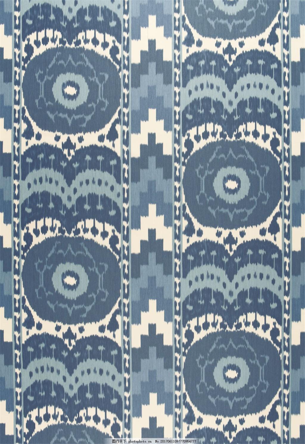深蓝色无缝壁纸图片下载 欧式花纹背景图 装饰设计 装饰素材 无缝壁纸