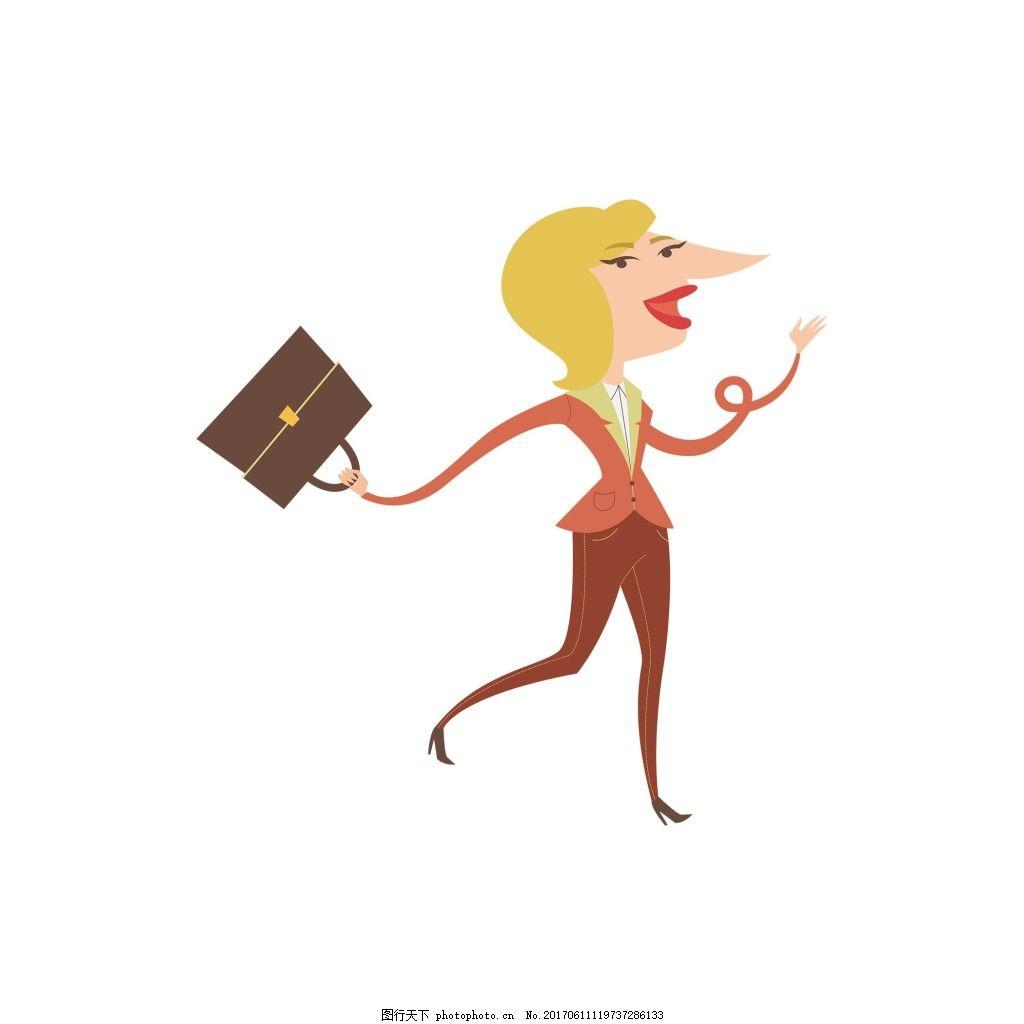 手绘美女包包元素 3d 立体 黄发 美女 逛街 购物 包包 png png