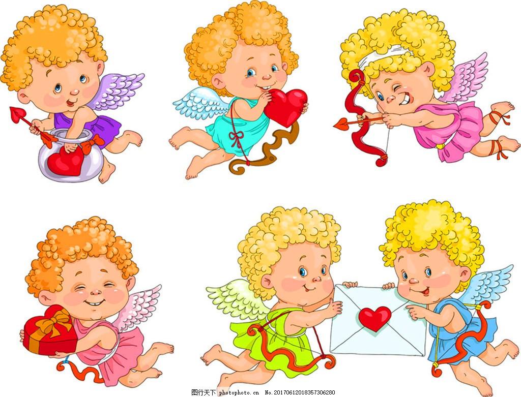 eps 商业插画 卡通画 卡通漫画 卡通画素材 卡通天使 天使 插画 可爱