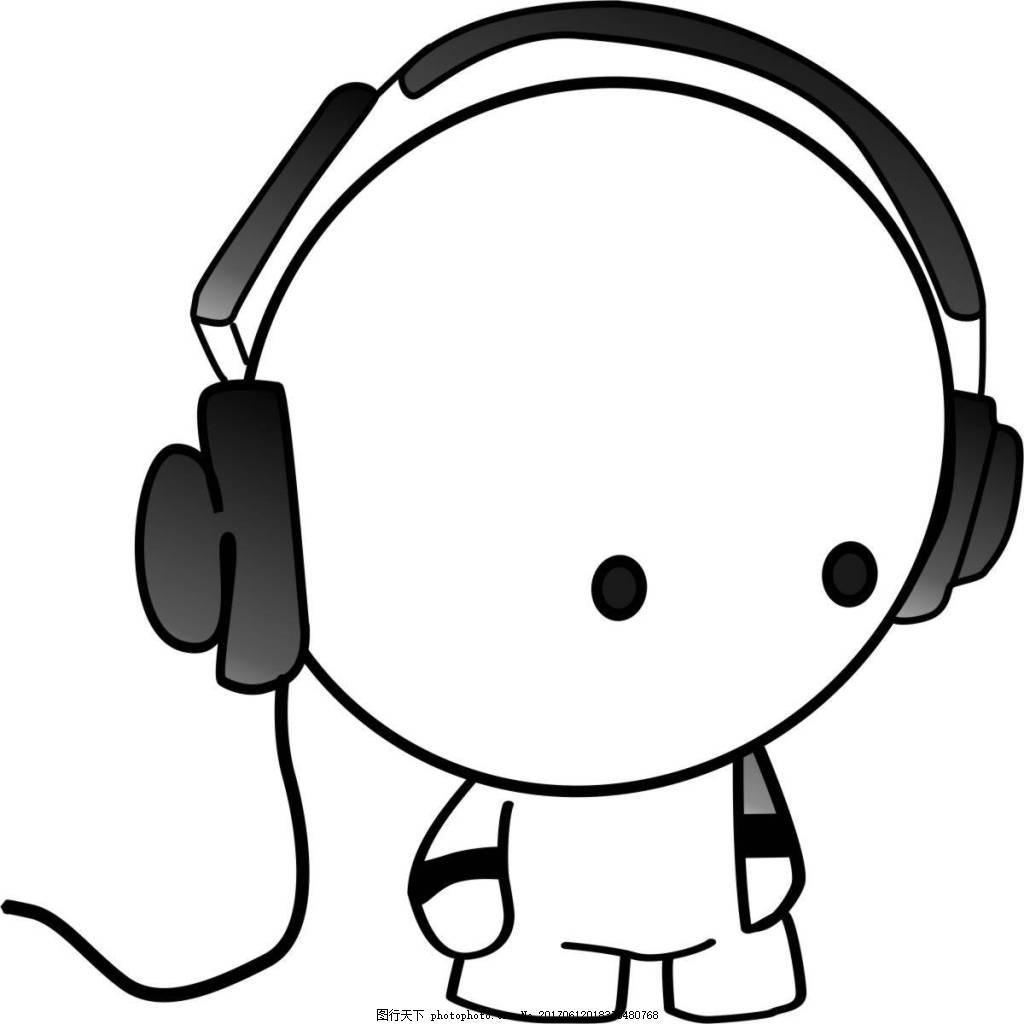 听音乐小孩插画 音乐 耳机 小孩儿 听音乐 卡通 短袖图片 t恤图片 简