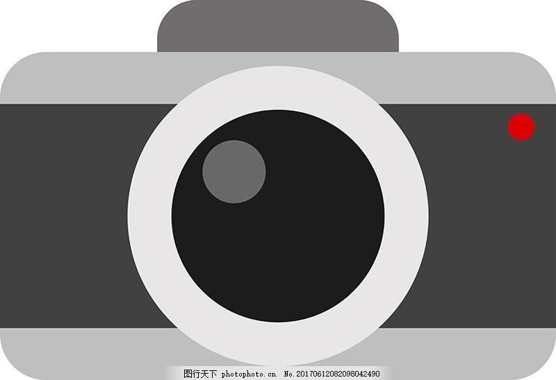 卡通摄像机素材 相机 照相机 拍照