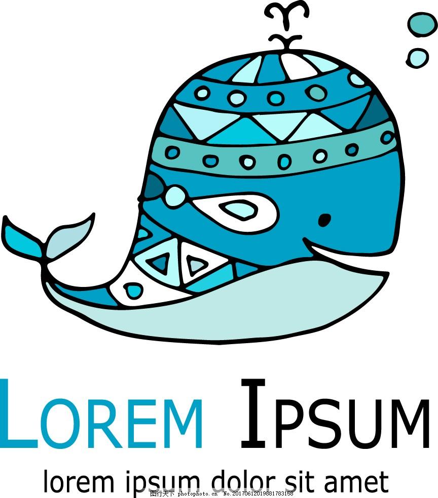 蓝色手绘可爱海豚图标 蓝色 时尚 创意 手绘 海洋 动物 海豚 图标