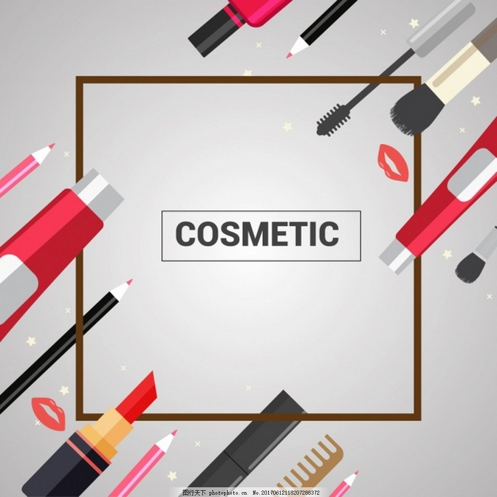 漂亮彩妆工具大全矢量图 背景素材 广告 免费下载 化妆品 护肤
