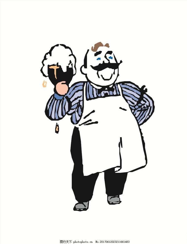 卡通人物 人物 矢量卡通人物 q版人物 卡通矢量人物 医生 工人 厨师