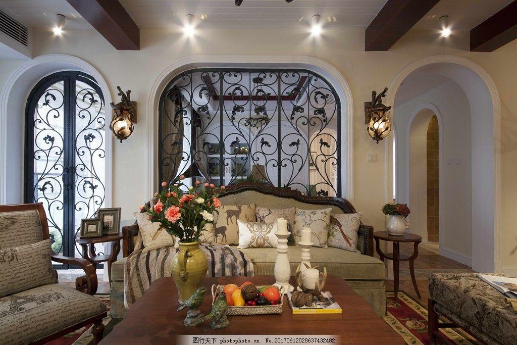 簡約美式客廳裝修效果圖 室內設計 室內裝修效果圖圖片 設計素材 jpg