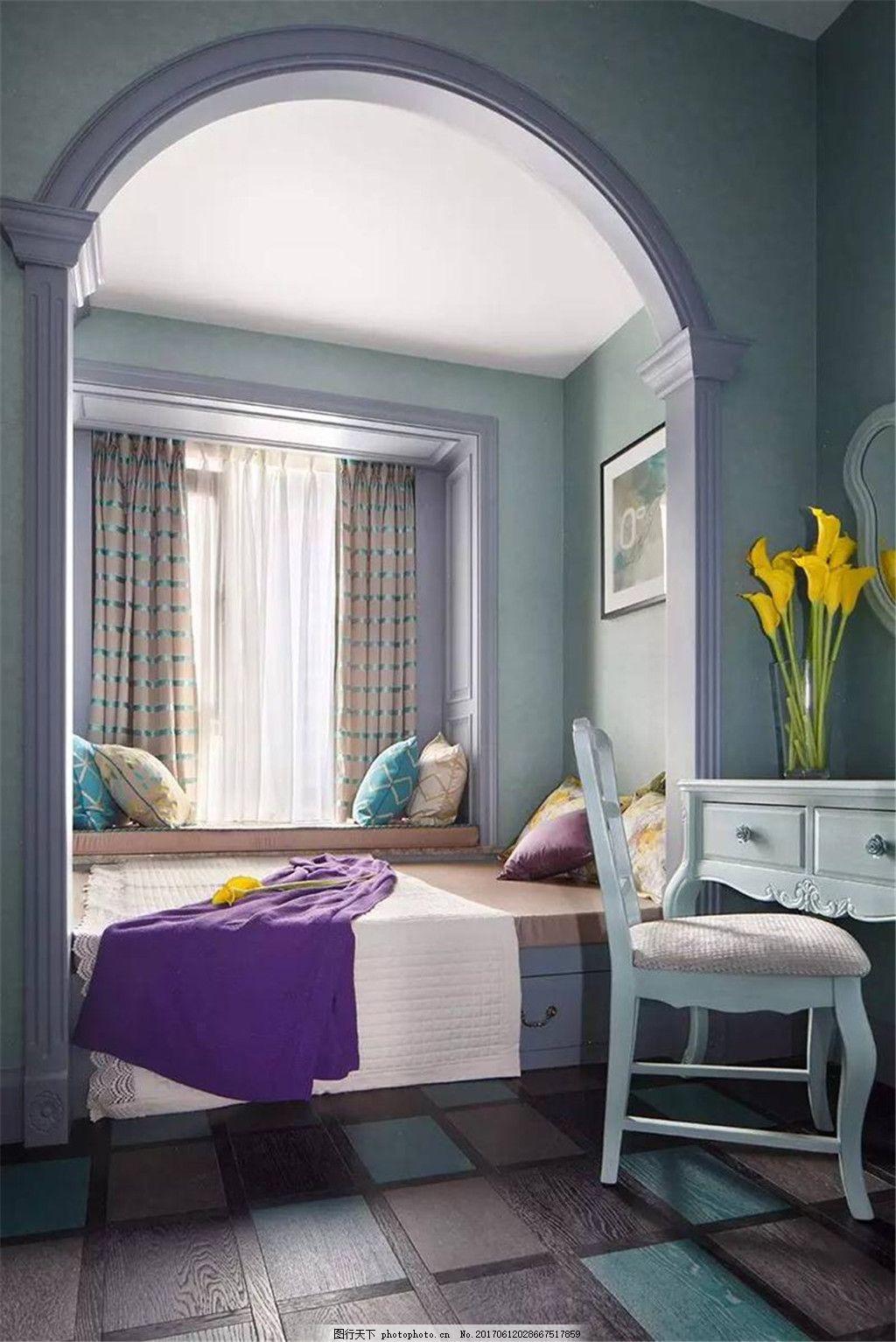 现代欧式卧室装修效果图 室内设计 家装效果图 现代装修效果图 时尚