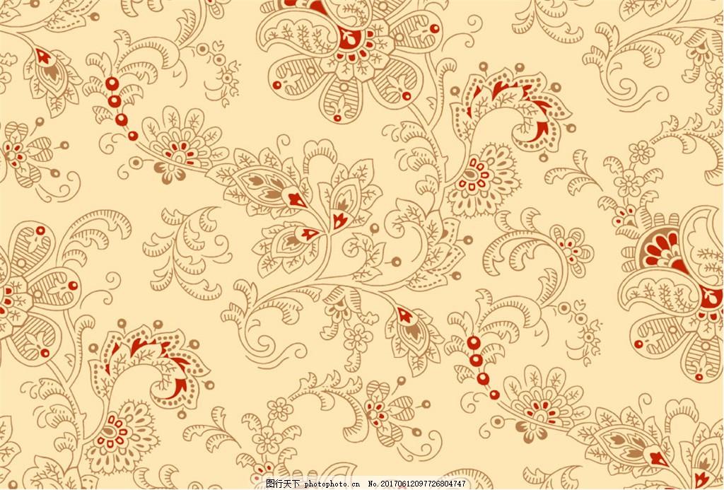 金色花纹布艺壁纸 中式花纹背景 壁纸素材 无缝壁纸素材 欧式花纹 jpg